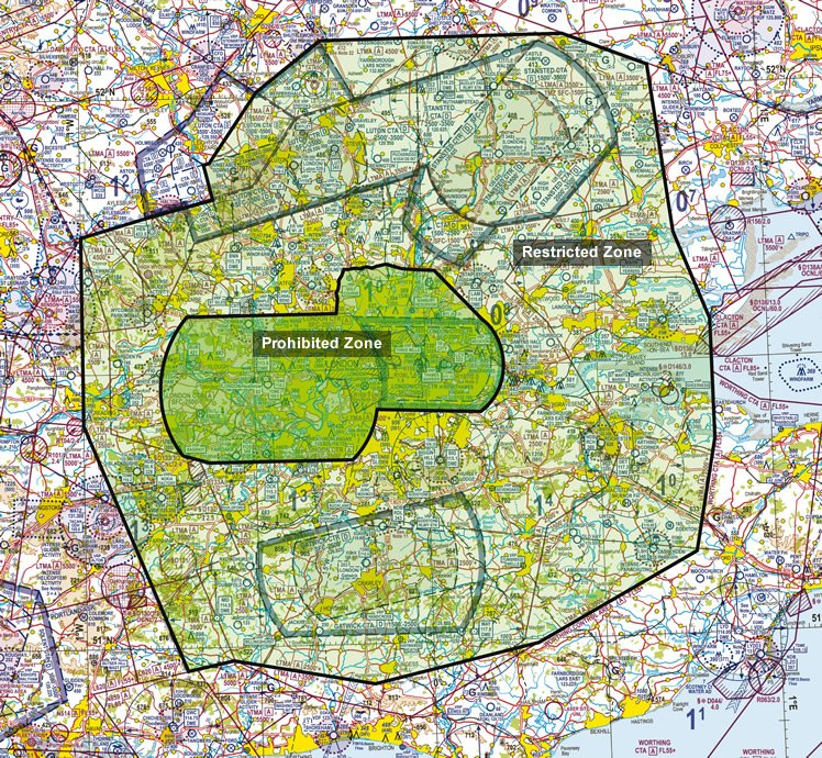 Nofly Zone Declared A Month Early Over Olympic Park SUAS News - Prohibited airspace map