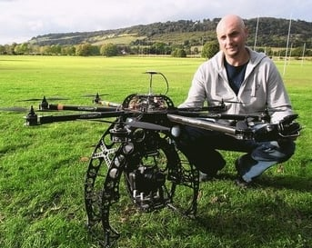FLIGHT enthusiast has built a remote-controlled drone which could be