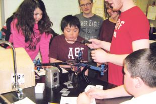 Nain school helps build drone