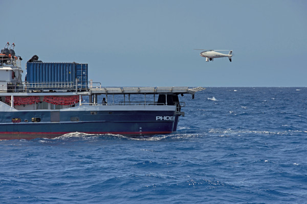 Schiebel Camcopter S-100 helped to save more than 2800 refugees in the Mediterranean Sea