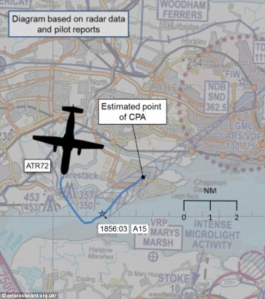 Quadcopter 'deliberately flown at passenger airliner' AIRPROX REPORT No 2014073