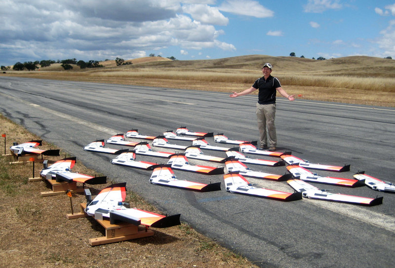 Follow The Leader: Drones Learn To Behave In Swarms