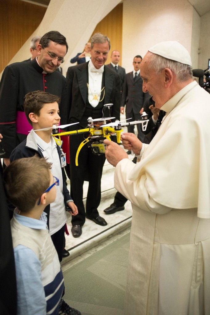 Pope Francis has a drone of his very own