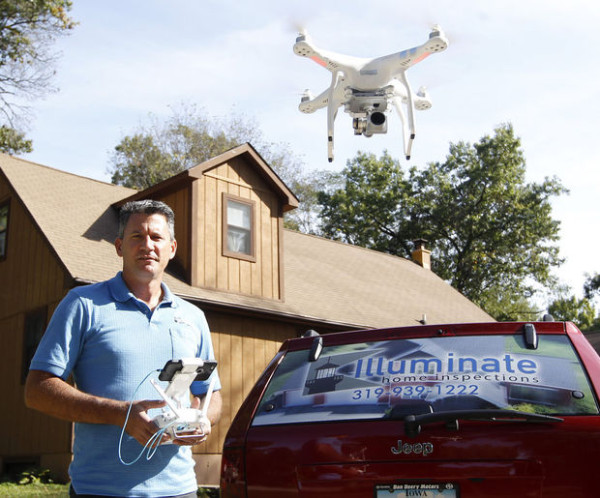 Starting on top: Home inspector using drone to include roof conditions in reports