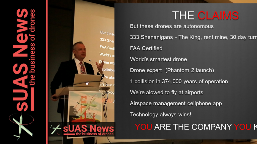 Patrick Egan 2016 expo presentation sUAS News YouTube Thumbnail