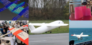 Collage of 3d printed unmanned aircraft UAVs
