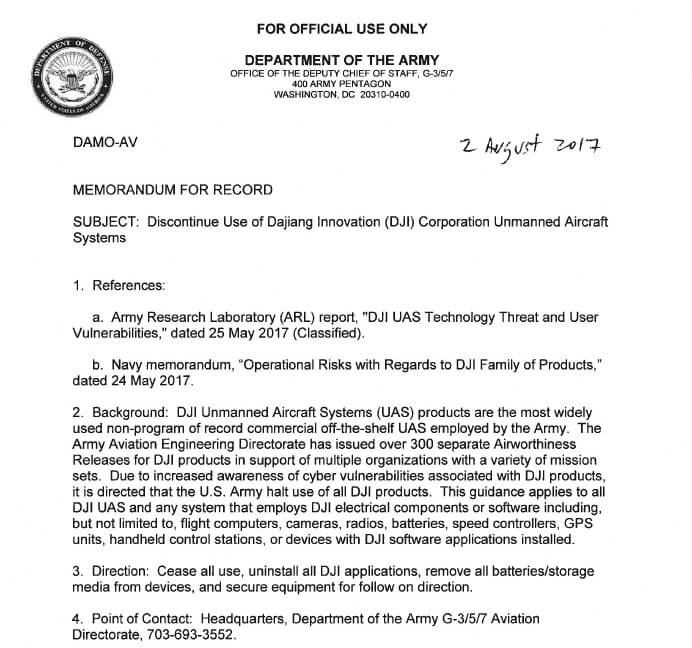 Us army calls for units to discontinue use of dji equipment suas according to a us army memo obtained by suas news the us army research lab and us navy have concluded that there are operational risks associated thecheapjerseys Images