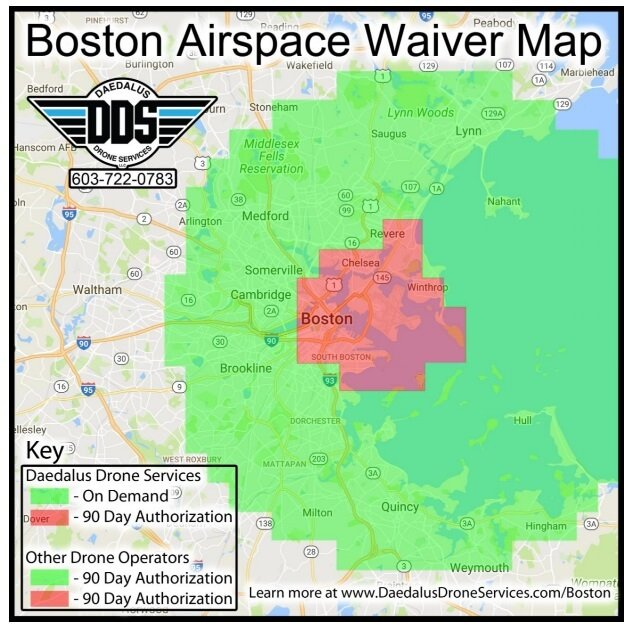 Daedalus Drone Services Awarded Unprecedented Airspace Waiver For - Us restricted airspace map
