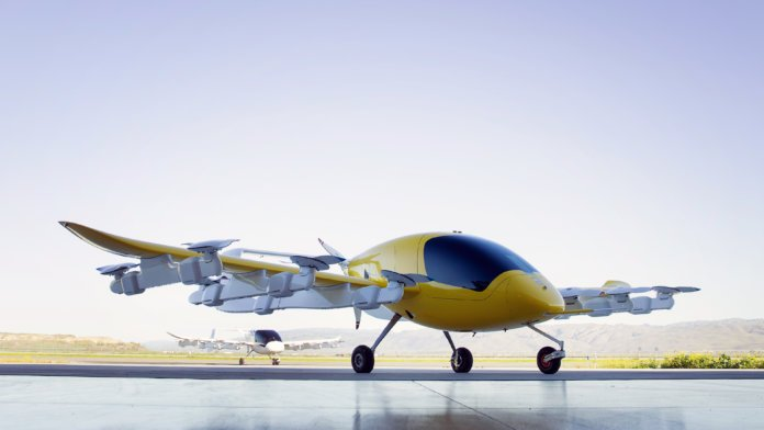 Watch Larry Page's self-flying air taxi lift-off