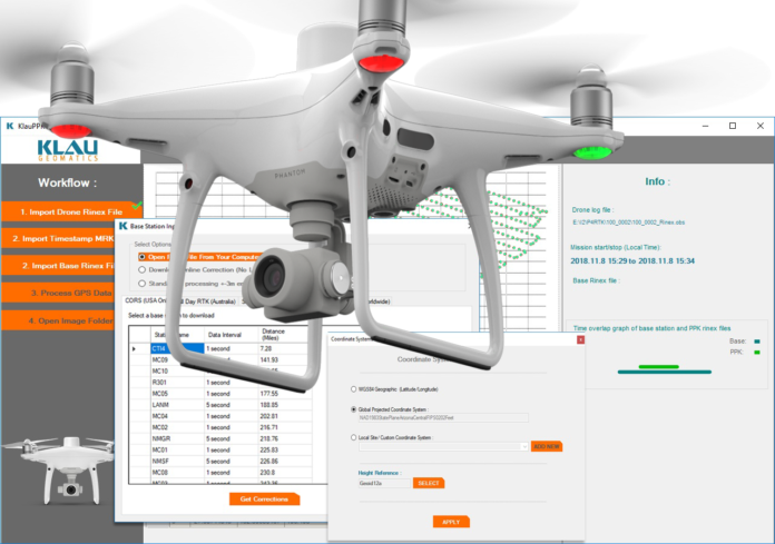 KlauPPK software for the Phantom4 RTK - sUAS News - The